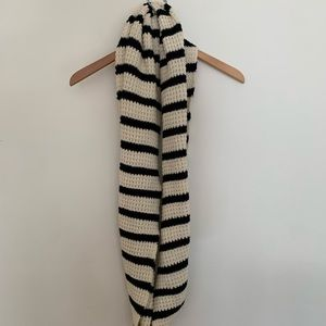 JCrew wool striped scarf, chunky and soft OS